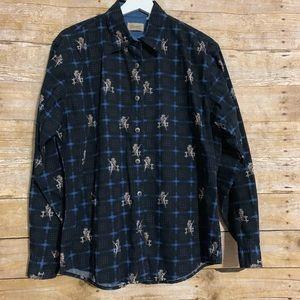 Wrangler vtg button up plaid shirt cowgirl western